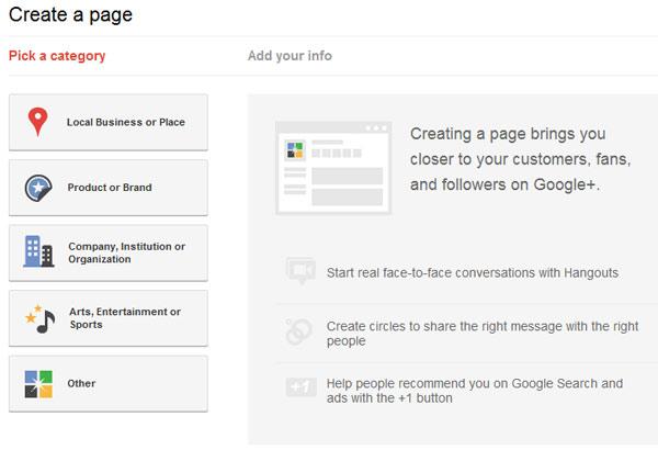 Create-Google-Page