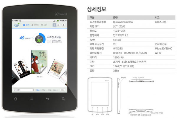 color e-ink reader
