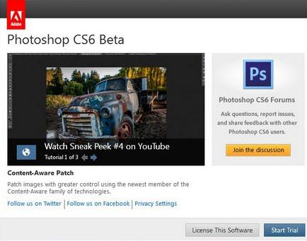 Photoshop-CS6-first-screen