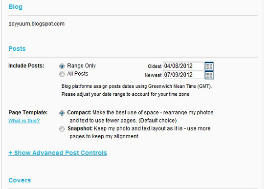 Blog2Print enables you to include posts from different date ranges as well as how you want the page to be formatted.