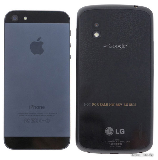 LG Google Nexus vs iPhone 5