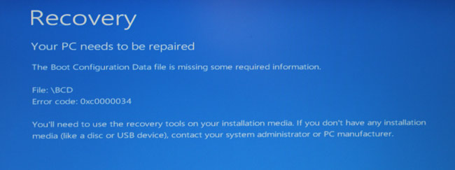 Recover missing files windows 7