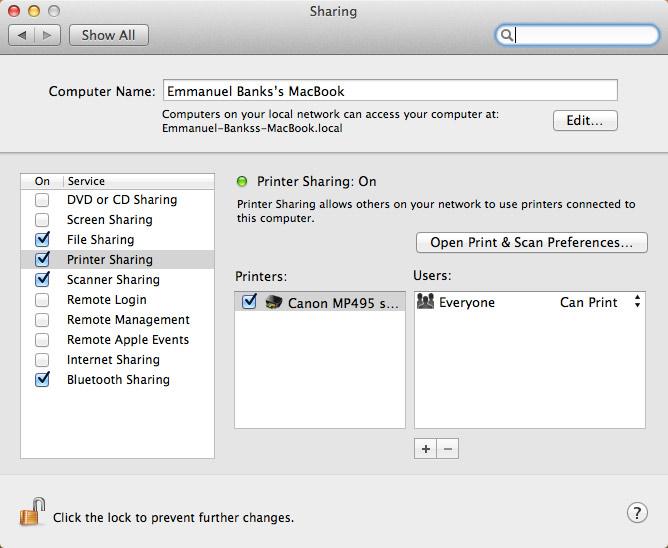 mac sharing folder