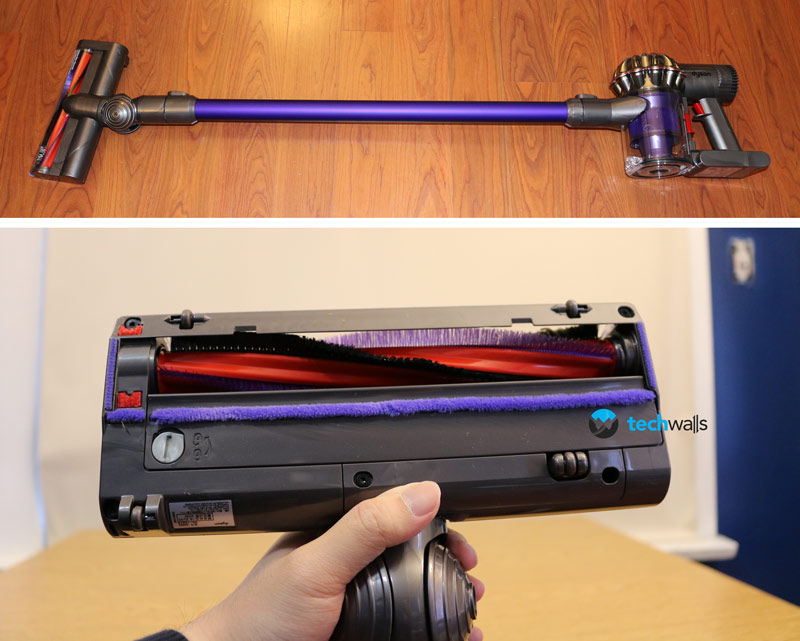 Dyson dc59 cordless vacuum review can we forget corded for Dyson motorized floor tool