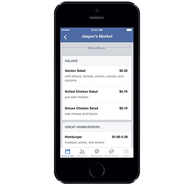 facebook-restaurant-menu