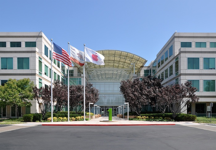 Apple's headquarters in Cupertino, CA