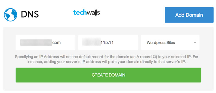 Add your domains in DigitalOcean