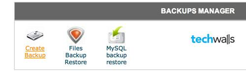 Back up database