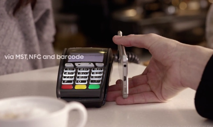 Samsung Pay can communicate directly with magnetic card payment terminals, so you can make payment anywhere without NFC.