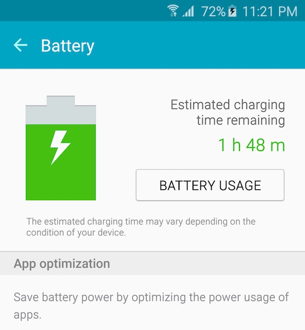 It took nearly 2 hours to charge from 72% to 100%