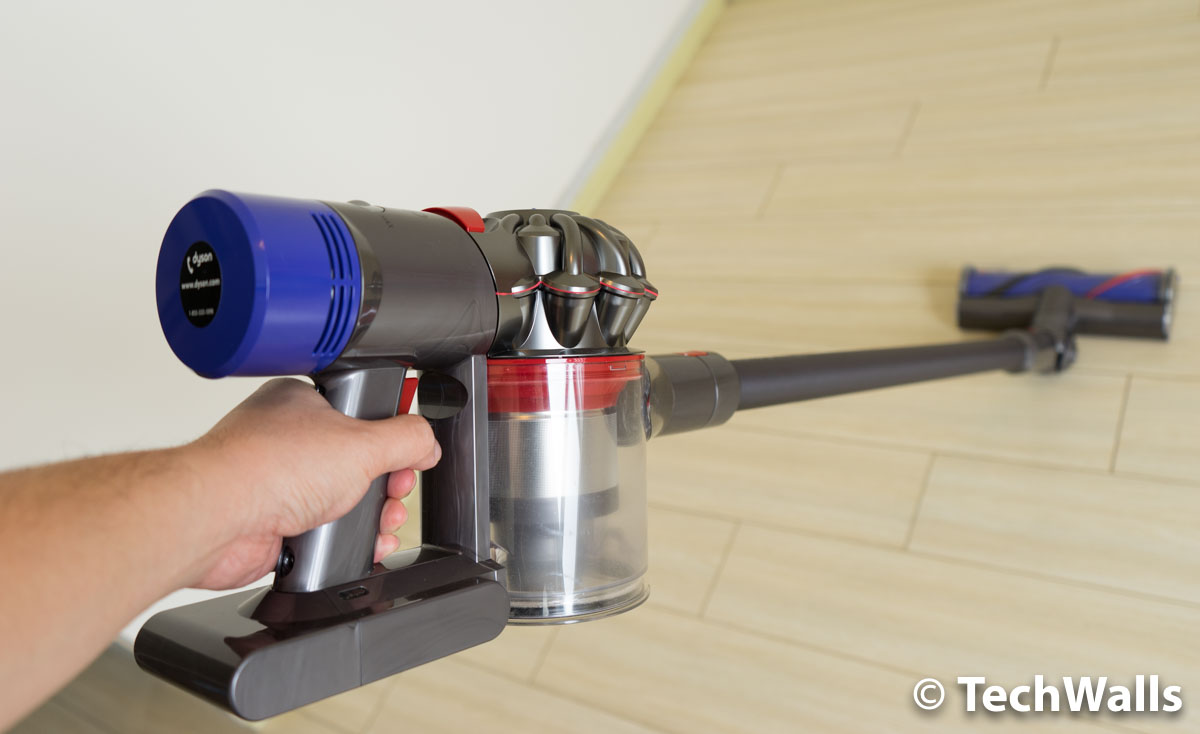 just press a button and slide the attachment out then snap another attachment in the system feels easier and more robust than any other handheld vacuum - Dyson Handheld Vacuum