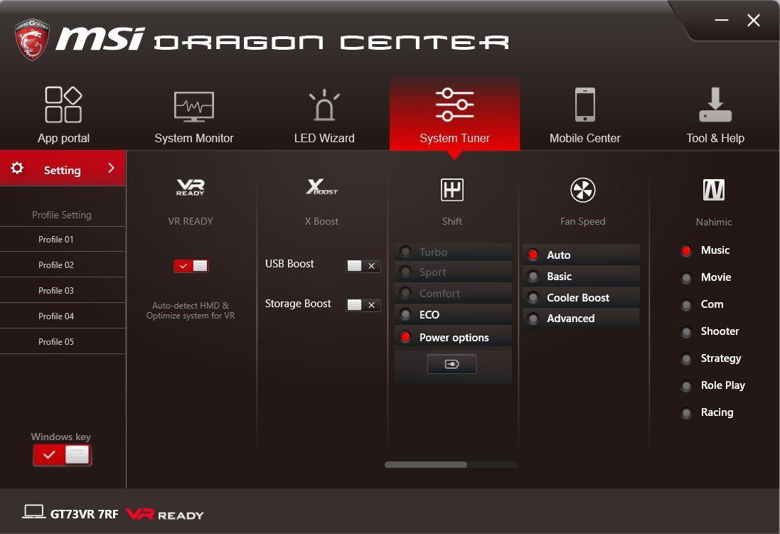 dragon gaming center windows 10