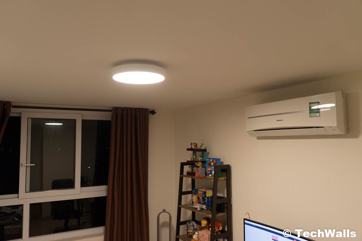 Xiaomi yeelight smart led ceiling light review i didnt like it however it would be quite boring if the smart features stopped at using the app to control the light fortunately the yeelight service has been available aloadofball Images