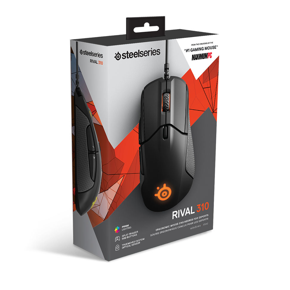 SteelSeries Sensei 310 Gaming Mouse 12,000 CPI TrueMove3 Optical Sensor New!