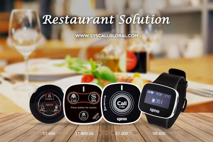 Syscall Wireless Calling System For Restaurants Hotels