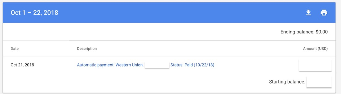 Adsense Payment Didn't Go Through with Western Union, How to