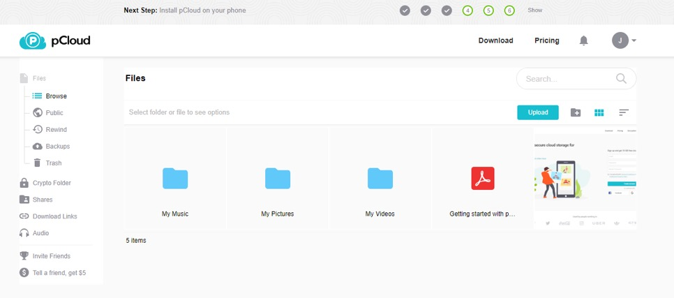 PCloud Review - First Cloud Storage Service with Lifetime Plans